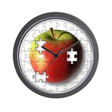 ESEteachersPuzzleApple Wall Clock