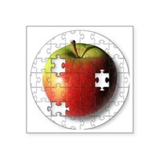 "ESEteachersPuzzleApple Square Sticker 3"" x 3"""
