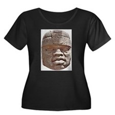 Olmec Head Plus Size T-Shirt