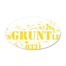 disGRUNTled_0331 Oval Car Magnet