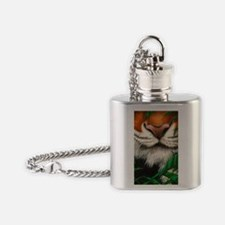 509-iTouch4 Generic Case (tiger nos Flask Necklace