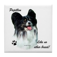 Papillon Breed Tile Coaster