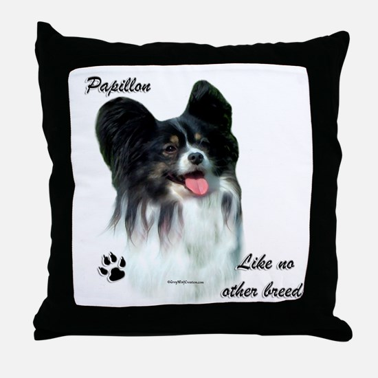 Papillon Breed Throw Pillow