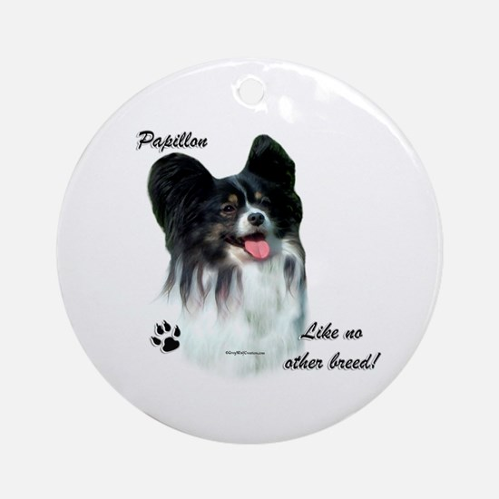 Papillon Breed Ornament (Round)