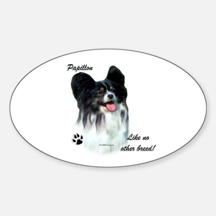 Papillon Breed Oval Decal