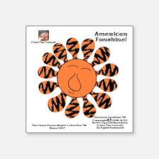"Pumpkin-Puss Zebrattica Maj Square Sticker 3"" x 3"""