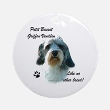 PBGV Breed Ornament (Round)