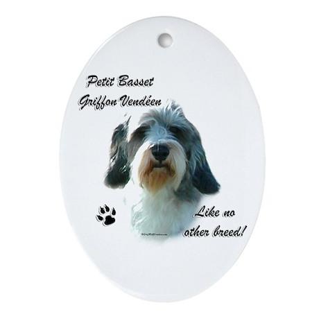 PBGV Breed Oval Ornament