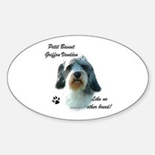 PBGV Breed Oval Decal