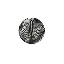 Circle pendant (zebras) Mini Button