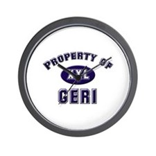 Property of geri Wall Clock