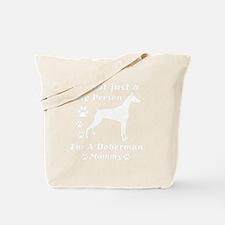 doberman_mommy_white Tote Bag