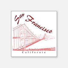 "SanFrancisco_GoldenGateBrid Square Sticker 3"" x 3"""