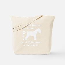 schnauzer_mommy_white Tote Bag