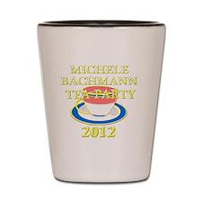 2012 michele bachman tea party Shot Glass