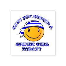 "greek-girl Square Sticker 3"" x 3"""