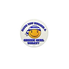 greek-girl Mini Button