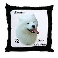 Samoyed Breed Throw Pillow