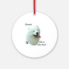 Samoyed Breed Ornament (Round)