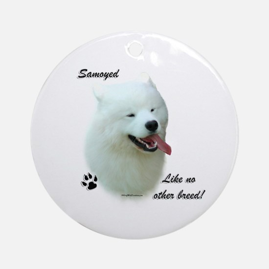 Samoyed Breed Ornament (Round)