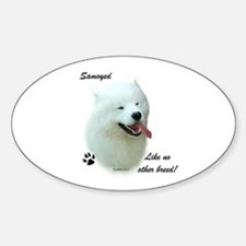 Samoyed Breed Oval Decal