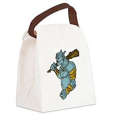 Blue Troll with Club Canvas Lunch Bag