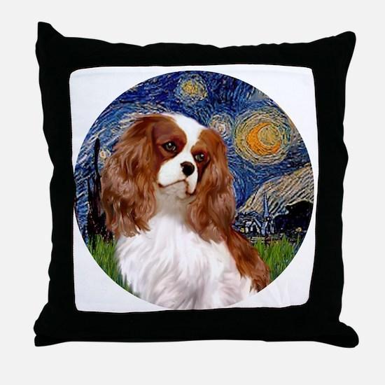 ORN-Cavalier2-StarryNight Throw Pillow