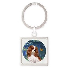 ORN-Cavalier2-Lilies5 Square Keychain