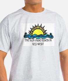 sun also rises key west Ash Grey T-Shirt