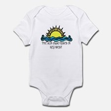 sun also rises key west Infant Bodysuit