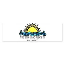sun also rises key west Bumper Bumper Sticker