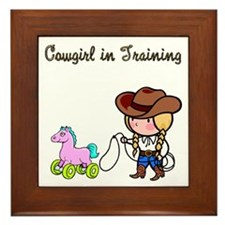 Cowgirl in Training Framed Tile