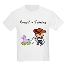 Cowgirl in Training Kids T-Shirt