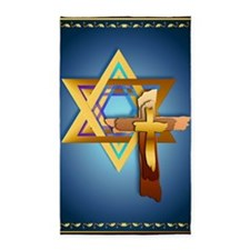LargePosterStar Of David and Triple 3'x5' Area Rug