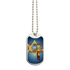 LargePosterStar Of David and Triple Cross Dog Tags