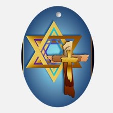 iPOD TouchStar Of David and Triple C Oval Ornament