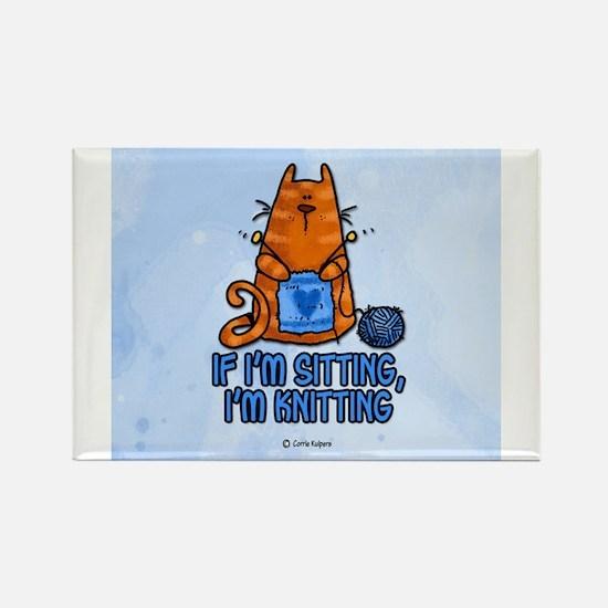 if i'm sitting, i'm knitting Magnets