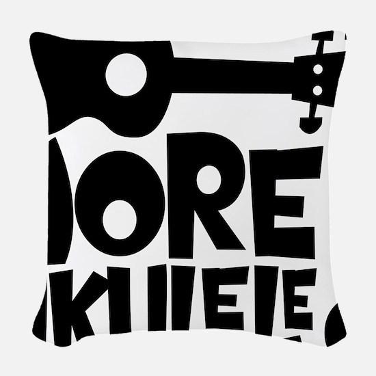 More Ukulele! Woven Throw Pillow