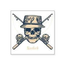 "fisher-skull-DKT Square Sticker 3"" x 3"""
