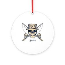 fisher-skull-LTT Round Ornament
