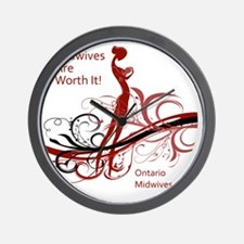 worth it midwives Wall Clock