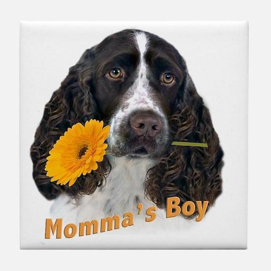 English Springer Spaniel Mommas Boy Tile Coaster