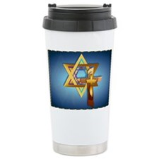 Star Of David and Triple Cross- Travel Mug