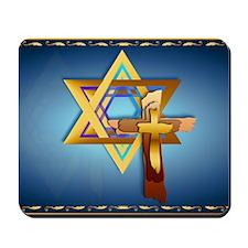 Star Of David and Triple Cross-Yardsign Mousepad