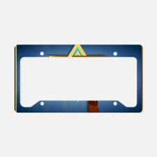 Star Of David and Triple Cros License Plate Holder