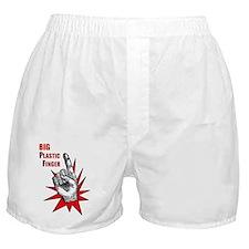 bigplasticfinger_tshirt_frt Boxer Shorts