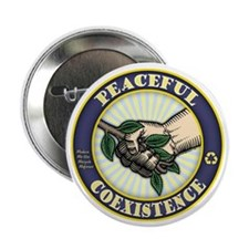 """Coexistence 2.25"""" Button (10 pack)"""