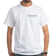 Librarian White T-Shirt
