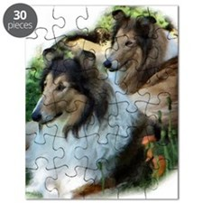 girls in grass 2 Puzzle
