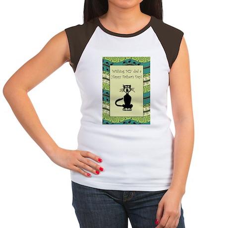 cat_fathers_day_card Women's Cap Sleeve T-Shirt